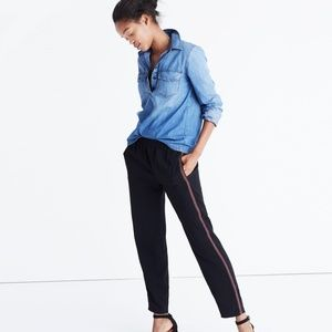 Madewell Embroidered Track Trousers Tuxedo Stripe
